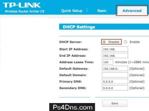 how to enable dhcp on router