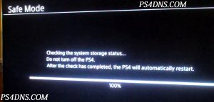 Cannot Start The PS4 Cannot Access System Storage