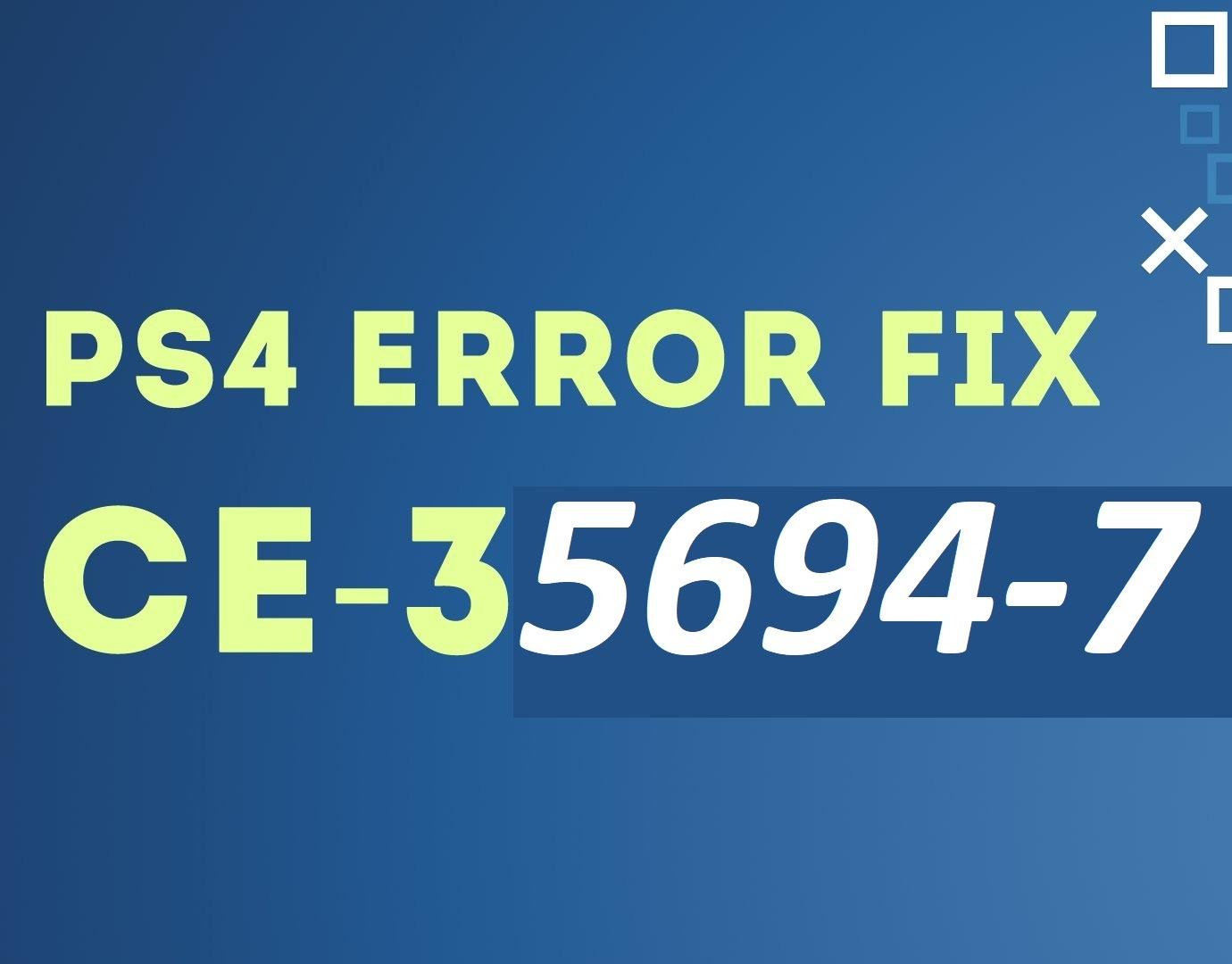 Error CE-35694-7 PS4
