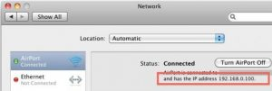 Find Ip address on MAc
