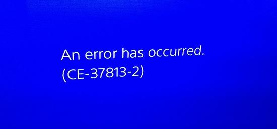 PS4 Error CE-37813-2 Ps4 Solution