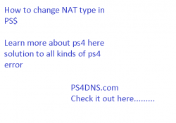 how to change nat type ps4