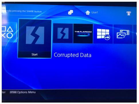 PS4 Corrupted Data - Fix