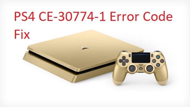 CE-30774-1 PS4 error code fix