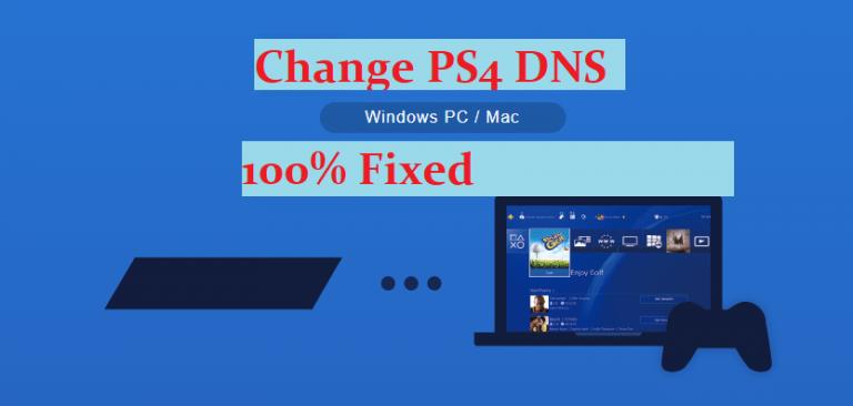change ps4 dns