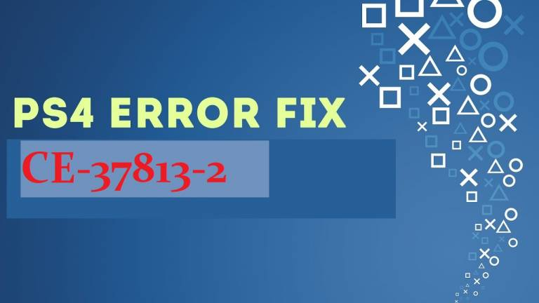 ps4 CE-37813-2 error fix