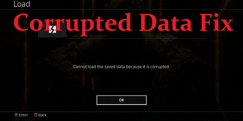 ps4 corrupted data fix