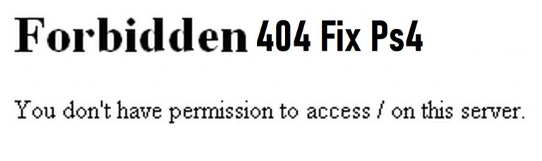 Ps4 Http status code 404 ps4 Fix