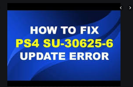 ps4 error SU-30625-6 fix