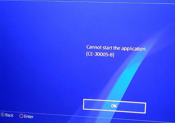 ps4 error code CE-30005-8