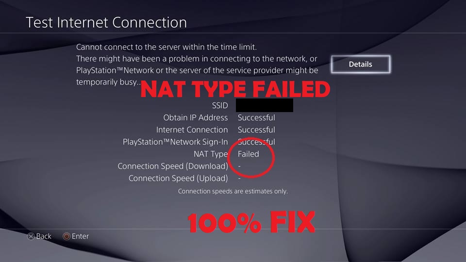 ps4 nat failed type error
