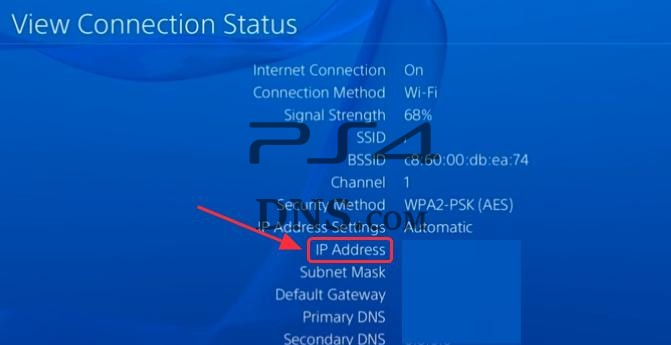 ps4 network connection