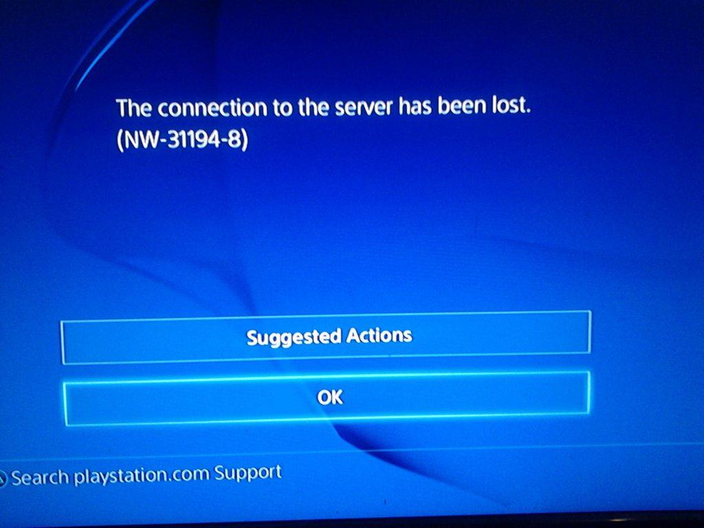 PS4 Error Code NW-31194-8 - Fix